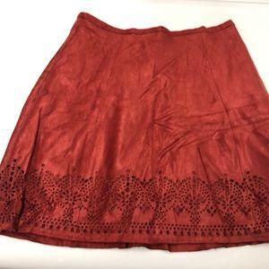 Fall color skirt . Soft Swede like material .